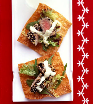 Sesame Seed-Crusted Tuna Appetizer