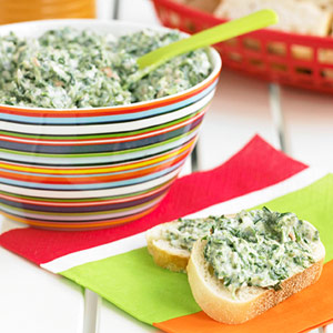 spinach-bean dip