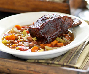Prairie-Style Bean Soup with Beef Ribs
