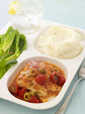 Flounder with Spicy Cherry Tomato Sauce