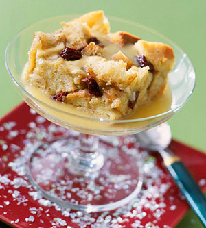 White Chocolate Bread Pudding with Hard Sauce