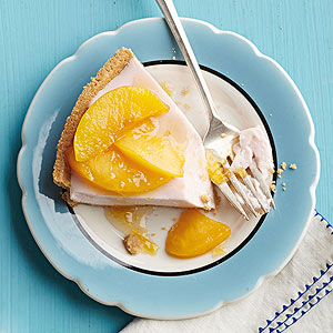Creamy Peach Yogurt Pie