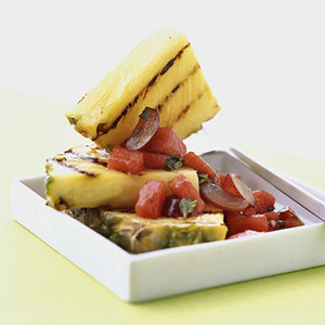 Pineapple with Watermelon Salsa