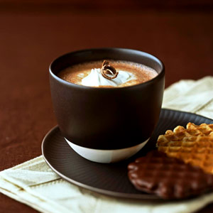 Vanilla Bean Infused Hot Chocolate