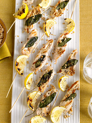 Nutty Lemon and Chicken Kabobs
