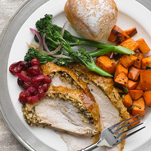 Grilled Turkey Breast with Spiced Almond Butter