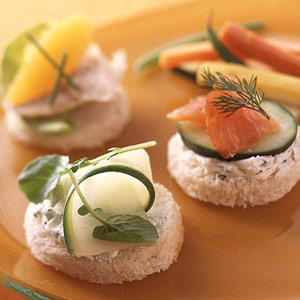 Open-Faced Party Sandwiches