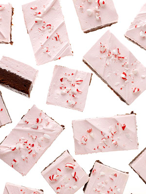 Peppermint Fluff Brownies