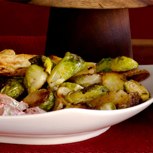 Brussels Sprouts and Fingerling Potatoes