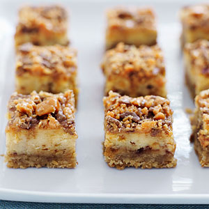 Peanut Butter Crunch Cheesecake Squares