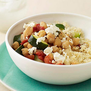 Chickpea Stew Over Couscous