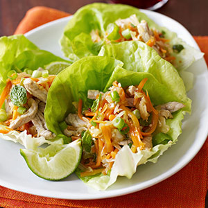 Thai Pork Wraps