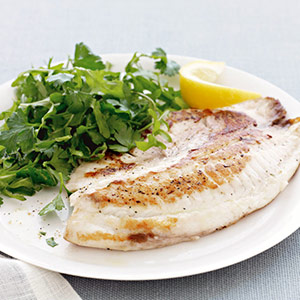 Tilapia with Lemony Herb Salad