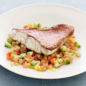 Red Snapper with Gazpacho Salsa