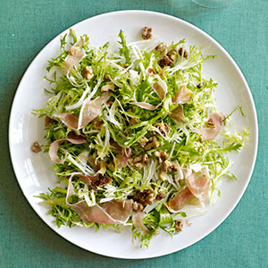 Frisee, Figs & Prosciutto with Walnut Vinaigrette