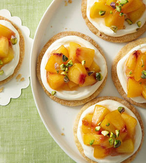 Easy Peach Tartlets