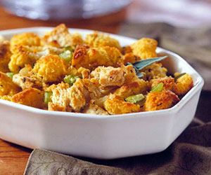 Sweet Potato and Corn Bread Stuffing