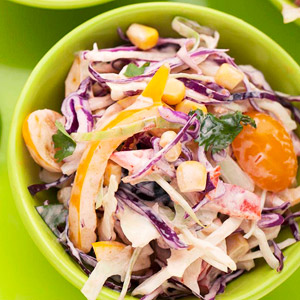 Mexican Coleslaw with Creamy Salsa Dressing