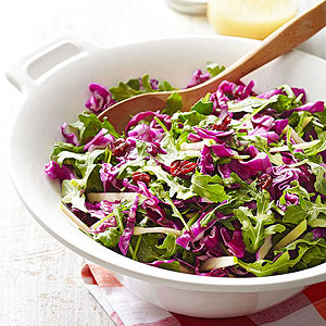 Nutty Apple-Cherry Slaw