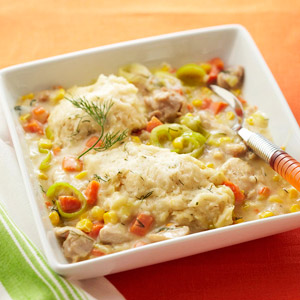 Chicken Chowder with Dilly Dumplings
