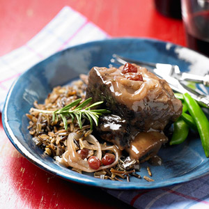Beef Short Ribs with Cranberry-Port Gravy