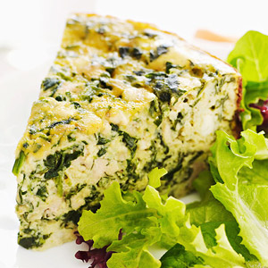 Spinach, Chicken & Feta Quiche