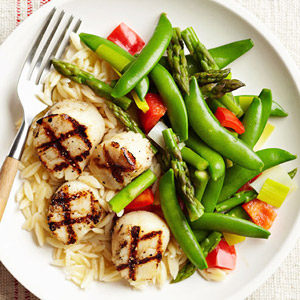 Grilled Scallops & Spring Vegetables