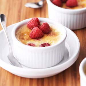 Raspberry Creme Brulee