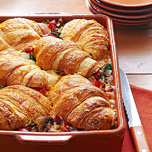 Stuffed Croissant Breakfast Strata