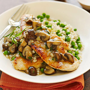 Turkey Scaloppine with Tarragon-Mushroom Sauce