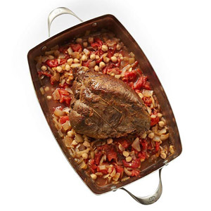 Pot Roast with Tomatoes and Chickpeas