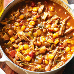 Pork Red Chili with Posole