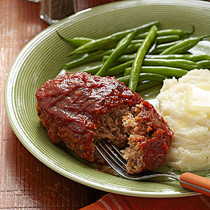 Skillet-Sauced Pork and Apple Mini Meatloaves