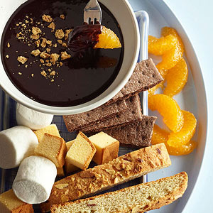 S'more Swiss Chocolate and Honey Fondue