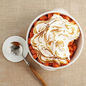 Sweet Potatoes with Cinnamon Meringue