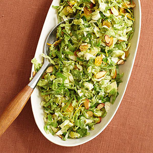 Shredded Brussels Sprouts With Orange And Almonds