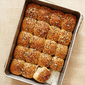 Seed-Topped Dinner Rolls
