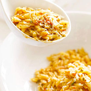 Orzo with Smoky Tomato Vinaigrette