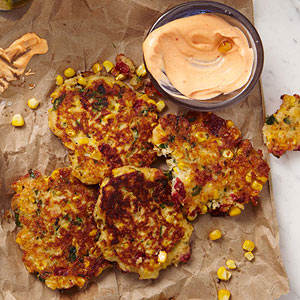 Corn and Cheddar Fritters