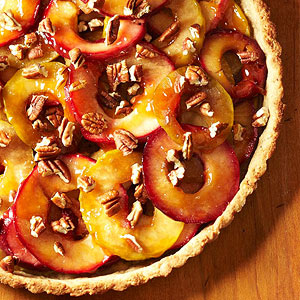 Cider-Spiked Apple and Pecan Tart
