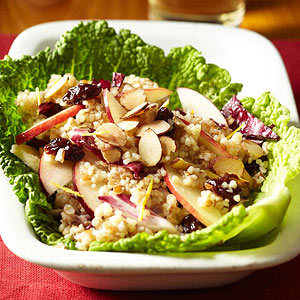 Apple and Couscous-Bulgur Salad