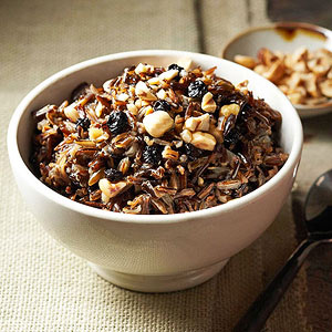 Wild Rice with Hazelnuts and Blueberries