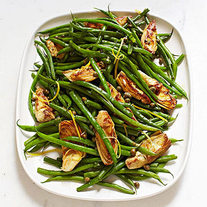 Extremely Fast Green Beans With Artichokes And Capers