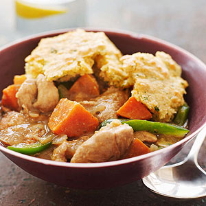Chipotle Pork and Sweet Potato Stew with Cornbread