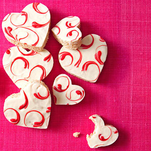 Valentine?s Day Rice Krispies Hearts