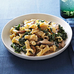 Campanelle with Mushrooms and Kale