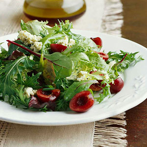 Cherry-Greens Salad