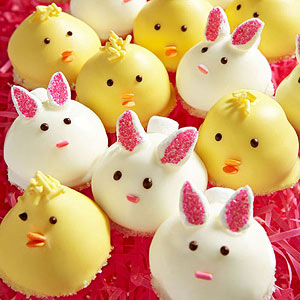 Chicks and bunnies cookies