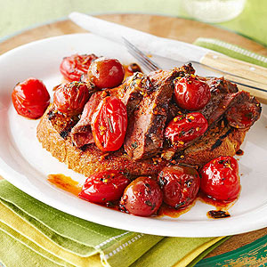 Grilled Steak Sandwich with Herbed Tomato Sauce