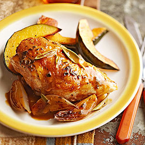 Roasted Chicken with Sage Pan Sauce
